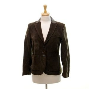 rag & bone 6 Career Blazer Brown Elbow Patch